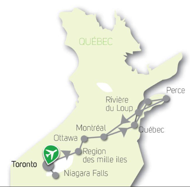 Circuit Canada Grandiose: Ontario, Québec, Gaspésie