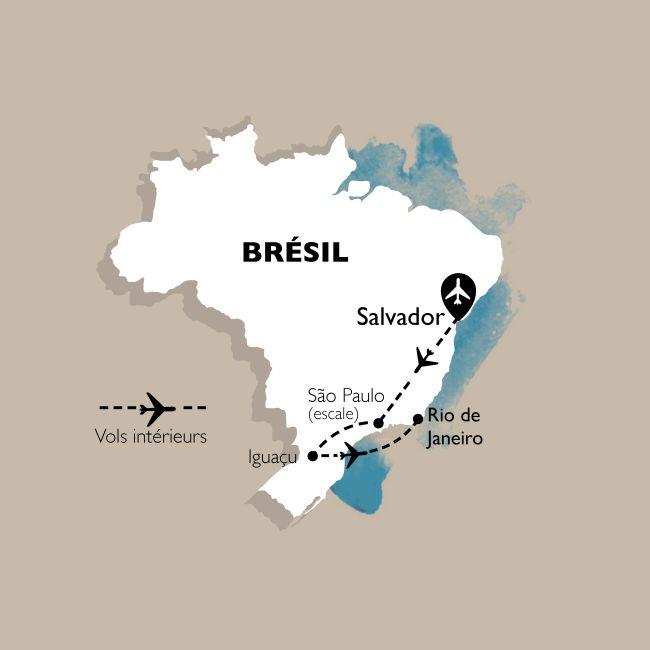 Circuit Brésil essentiel : Salvador, Iguazu, Rio - 20 personnes maximum