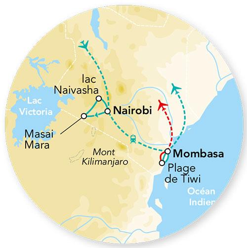 Kenya - Circuit Splendeurs du Kenya avec extension balnéaire à Mombasa