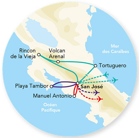 Costa Rica - Circuit Splendeurs du Costa Rica avec extension à Playa Tambor