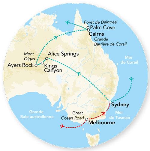 Australie - Circuit avec Pré-Voyage à Melbourne et Splendeurs de l'Australie