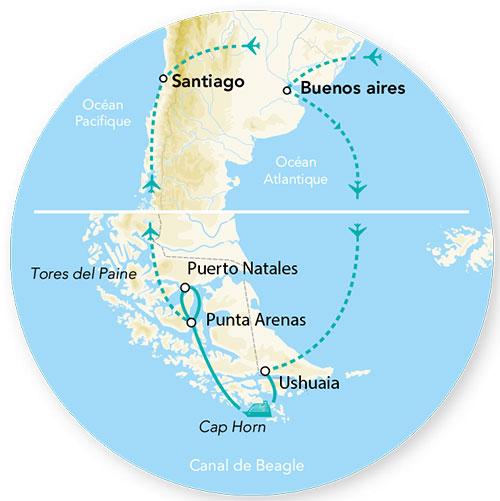 Argentine - Chili - Circuit Merveilles de l'Argentine / Chili et Croisière Cap Horn